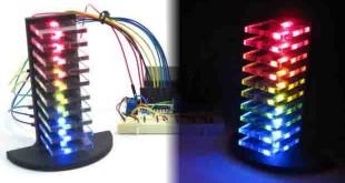 مدار ساخت برج اکولایزر صوتی ال ای دی