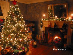تزئینات کریسمس با ریسه های نوری