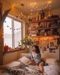 دیزاین زیبا نوری در اتاق