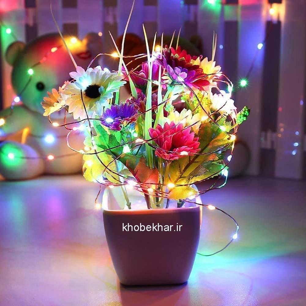 گل و ریسه نوری