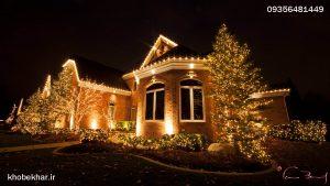نورپردازی حیاط منزل