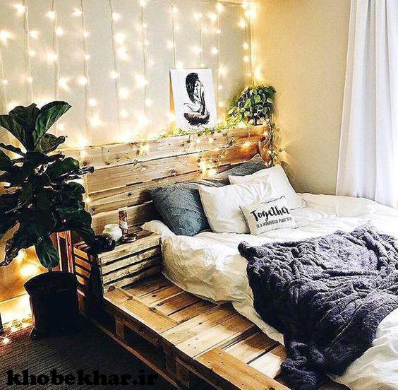 اتاق لاکچری با تزئینات نوری