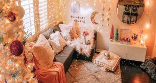 نورپردازی اتاق خواب با ریسه نوری+عکس