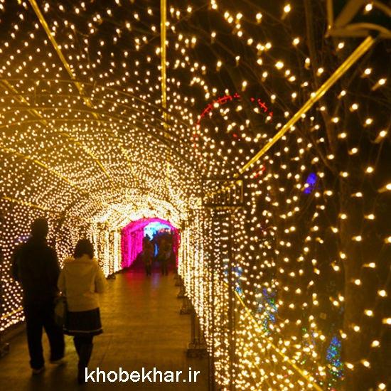 تونل نور با ریسه نوری