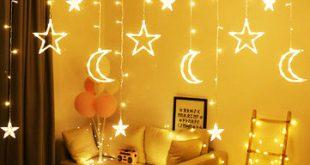 پرده ماه و ستاره طرح آسمان